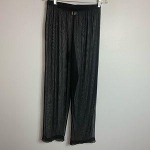 KATHY IRELAND MESH SWIM COVER UP PANTS SIZE LARGE